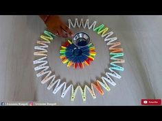 Beautiful Rangoli Design Using Mosquito Coils - YouTube