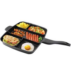 Kitchen Pot 15 Inches Non-stick Frying Pan 5 In 1 Fry Pan Divided Grill Pan for All-in-One Cooked Breakfast Pot Cooking For A Group, New Cooking, Cooking Turkey, Cooking Tips, Beginner Cooking, Cooking Lamb, Cooking Corn, Cooking Salmon, Vegetarian Cooking