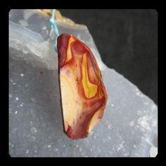 Nugget Mookite  Bead,Jasper Focal Pendant Bead,38x16x11mm,9.49g