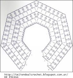 Discover thousands of images about Irish lace, crochet, crochet patterns, clothing and decorations for the house, crocheted. IG ~ ~ crochet yoke for girl's dress ~ pattern diagram Elegant dresses + crochet skirt of tulle. Col Crochet, Crochet Baby Dress Pattern, Crochet Fabric, Crochet Diagram, Crochet Poncho, Crochet Chart, Crochet For Kids, Hand Crochet, Crochet Stitches