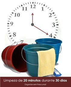 Organize sem Frescuras | Rafaela Oliveira » Arquivos » Como limpar sua casa em 20 minutos por dia durante 30 dias