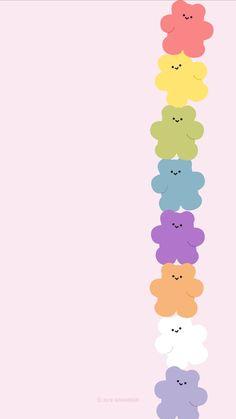 Cute Pastel Wallpaper, Soft Wallpaper, Bear Wallpaper, Cute Patterns Wallpaper, Emoji Wallpaper, Kawaii Wallpaper, Wallpaper Iphone Cute, Aesthetic Iphone Wallpaper, Disney Wallpaper