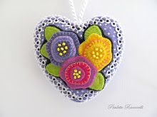 purple heart ornament