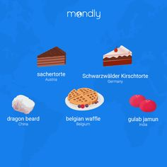 More traditional desserts from all over the world 🤤 SHARE with a friend you're sharing Sunday sweet snacks with 🤗 Learn Languages Online, Sunday, Snacks, Traditional, Learning, Memes, Sweet, Desserts, Fun
