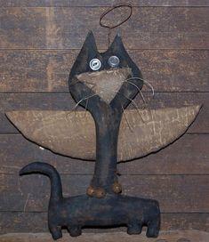 catnap spring ~ skinny cat angel $4.75