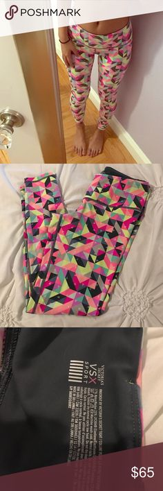 "VSX Kaleidoscope Tights Small No longer available in stores or online this was a limited edition print. Worn only three times and in excellent condition. Size Small Short. I am 5'4"" for reference. No trades! Victoria's Secret Pants Leggings"
