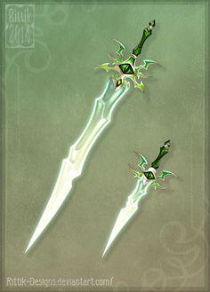 Dragon Teeth (sword and dagger) - Auction!!! by Rittik-Designs