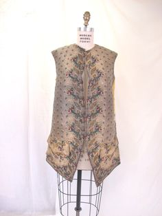 Mens 1770 to 1800  Antique Golden Waistcoat  Vest by Tovasvintage, $1550.00 -- pinned by WhatnotGems.Etsy.com