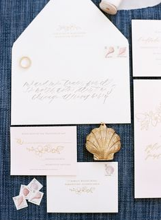 Photography : Lacie Hansen   Stationery : Feast Fine Art & Calligraphy Read More on SMP: http://www.stylemepretty.com/2016/05/19/classic-nautical-nantucket-wedding/