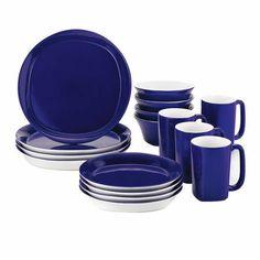 16 Piece Dinnerware Set in Blue