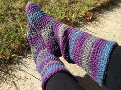 Women's Slouchy Slipper Boots by BlueberryCreekCrafts on Etsy