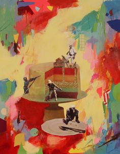 Julia Grey Art Having Your Cake 1 collage art/ mixed media #collageart #juliamarygrey