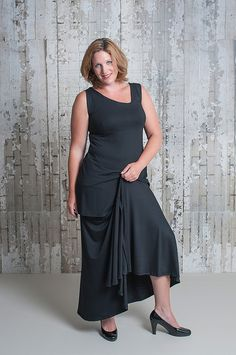 black skirt and top by Gracy