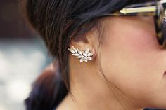 Statement rhinestone for the ears