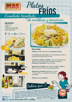 #Receta de #ensalada de #endibias y #persimon con #queso de cabra    #Recetas #infografias #InfoRecetas #Infographics #ensaladas #recipes