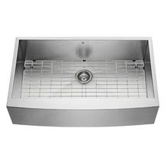x Single-Basin Stainless Steel Apron Front/Farmhouse Comme. x Single-Basin Stainless Steel Apron Front/Farmhouse Comme. x Single-Basin Stainl. Stainless Steel Farmhouse Sink, Farmhouse Sink Kitchen, Kitchen Redo, Kitchen Remodel, Kitchen Ideas, Kitchen Design, Basement Kitchen, Basement Ideas, Gold Faucet