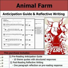 Self reflective essay ideas for fahrenheit To get you started thinking about what makes for good reflective essay topics, I'll give you some tips and 15 real examples you can use for your own essay. Post Reading Activities, Classroom Activities, Classroom Ideas, Animal Farm Novel, English Language, Language Arts, Animal Farm George Orwell, Special Needs Students, World Literature