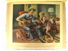 "Thomas Hart Benton ""The Music Lesson"" I love that this man is transmitting music to the next generation. And taking the time and patience to teach a girl child."