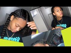 2 Feed In Braids Tutorial *Very Detailed 2 Braids With Weave, 2 Feed In Braids, Feed In Braids Hairstyles, Box Braids, Braided Hairstyles, Natural Hair Tips, Natural Hair Styles, Styling Tools, Cornrows