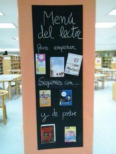 """""""Menú del lector"""" de la Biblioteca Pública de Soria en las actividades Bibliochef"""