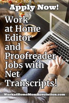 Net Transcripts is hiring home-based editors and proofreaders to correct and proof insurance transcripts. These are independent contractor positions. Money Tips, Money Saving Tips, Earn Money From Home, How To Make Money, Work For Hire, Work From Home Companies, Proofreader, Work From Home Moms, Home Insurance