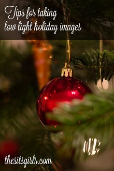 From Christmas light twinkles to the bokeh effect, learn how to take amazing pictures this holiday season. Even those low-light, indoor pictures will turn out well with these photography tips.