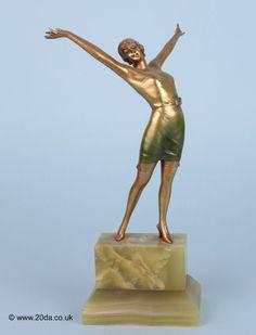 lorenzl art deco bronze