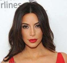The finished product:  Kim's make-up looked flawless when she attended the Annual Elton Jo...
