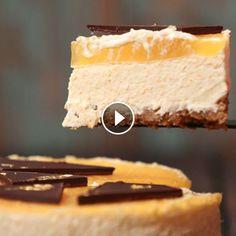 Jaffa Cake No Bake Cheesecake Recipe — Dominique Eloise Baked Cheesecake Recipe, No Bake Cheesecake, Jaffa Cake, Fig Cake, Cake Pans, Clean Eating Snacks, Quick Easy Meals, Vanilla Cake, Deserts