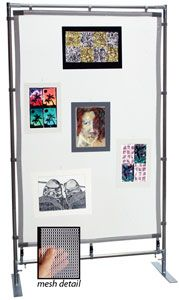 Freestanding Steel MeshPanel Display Wall 7 ft 4 ft - have a 7ft by 10  sc 1 st  Pinterest & How to make a Super-Cheap display (for craft shows fairs etc ...