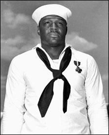 Doris (Dorie) Miller. When the Navy was institutionally racist and told him he could only be a cook, he saved hundreds if not thousands of lives when he manned a machine gun which cut down at least 6 kamikaze planes according to his chief.     Pioneer. Hero. Texan.