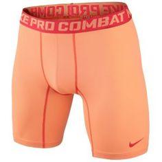 "Nike Pro Combat Compression 6"" Short 2.0 - Men's - Atomic Orange/Lt Crimson"