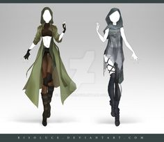 (OPEN) Adoptable Outfit Auction 189 - 190 by Risoluce on DeviantArt