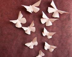 Wall Butterflies: Pale Pink Butterfly Wall Art for Baby Girls Room Nursery Decor 3d Butterfly Wall Decor, Butterfly Wall Stickers, Pink Butterfly, Art Mural 3d, 3d Wall Art, Art 3d, Paper Butterflies, Paper Flowers, Girl Nursery