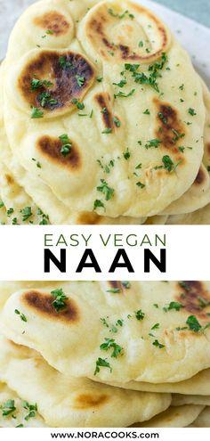 Easy vegan naan recipe- So soft fluffy and easy to make! Easy vegan naan recipe- So soft fluffy and easy to make! The post Easy vegan naan recipe- So soft fluffy and easy to make! appeared first on Vegan. Vegan Dinner Recipes, Whole Food Recipes, Cooking Recipes, Low Carb Recipes, Easy Vegan Dinner, Cake Recipes, Vegetarian Meals, Easy Vegan Snack, Vegan Lunch Healthy