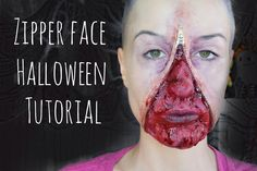 Zipper face Halloween tutorial Mehron basic paradise palette Ben Nye nose and scar wax Pros-Aide adhesive Mehron Spirit Gum Skin Illustrator palette Trefor P. Zipper Face Halloween, Halloween Face Makeup, Scar Wax, Halloween Tutorial, Makeup Looks, Tutorials, Youtube, Maquiagem, Make Up Styles