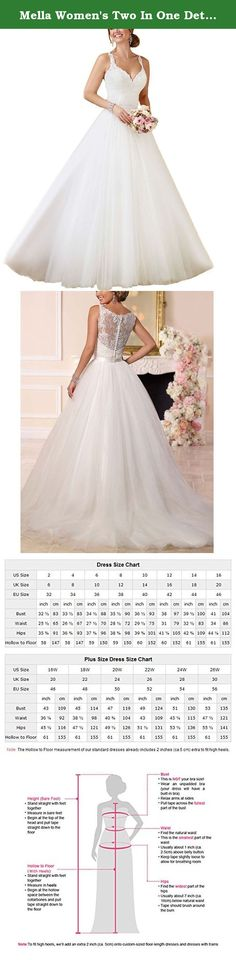 Mella Women's Two In One Detachable Train Lace Wedding Dresses 2017 White-24W Plus Size. Mella Women's Two In One Detachable Train Lace Wedding Dresses 2017 White-24W FREE SUPER GIFT: 30$ worth of long tulle bridal veils with lace appliques, up to 9 ft (approximately 3m), Same Lace pattern as that of the wedding dress shown in picture. Perfect match for the brides. Standard Size Option: Choose the size from the dropdown menu according to our Size Chart Image displayed next to the main…