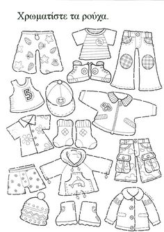Best 11 My on going lesson of clothes started with paper dolls. I have a set I keep and a print out for the kids. I combined the doll with a dice of seasons for our Seasons & Weather lesson. Spanish Activities, Toddler Activities, Weather Lessons, Busy Book, Baby Kind, Classroom Activities, Teaching English, Pre School, Paper Dolls