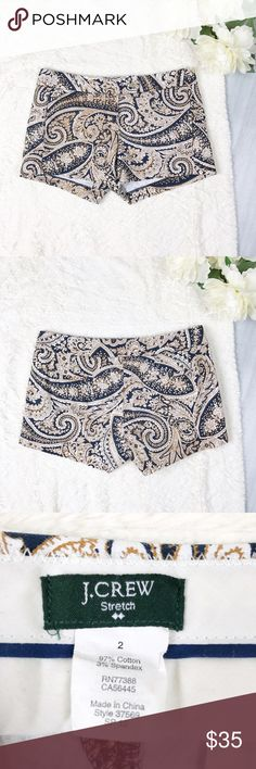 J. Crew Paisley Shorts J. Crew Paisley Shorts  Size 2 Excellent Used Condition!  Feel free to ask for measurements!  MAKE AN OFFER!l J. Crew Shorts