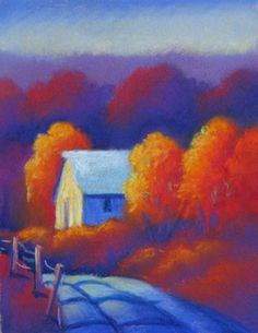 Pastel by artist Gordon Kellenberger from Amana, Iowa