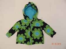 Baby Girls Carter's Hooded Spring Coat Jacket Shirt Green Blue Size 6 Months 6M