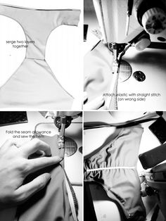 Bathing suit sewing