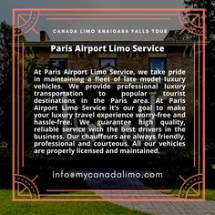 Paris Airport, Toronto Airport, Airport Limo Service, Business Travel, Transportation, Tours, Canada, Book, Book Illustrations