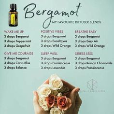 essential oil for depression and anxiety doterra essential oil blend combinations Essential Oils Guide, Doterra Essential Oils, Bergamot Essential Oil Uses, Doterra Blends, Essential Oil Combinations, Essential Oil Diffuser Blends, Relaxing Essential Oil Blends, Diffuser Recipes, Aromatherapy Oils