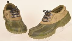 Crocs All Terrain Camo Croslite green Leather lace-up Shoes Mens 7 womens 9 used #Crocs #Clogs