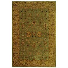 "Safavieh Persian Legend Collection PL523A Handmade Traditional Blue and Gold Wool Area Rug (8'3"" x 11')#Oriental rugs"