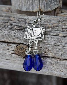 gabi111 / Kráľovsky modré kvapky - náušnice