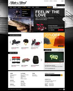 Magento Cart Theme by Gun Drama, via Behance