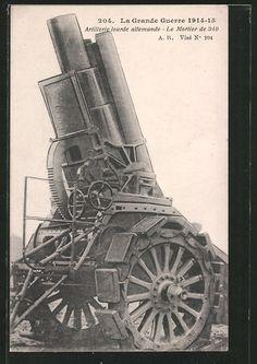 old postcard: AK Deutscher 340 mm Mörser