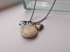 Antiqued Bronze Mommy Necklace by Shaina Ranae Jewelry